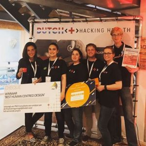 Winnend Ordina-team Dutch Healht-hackathon