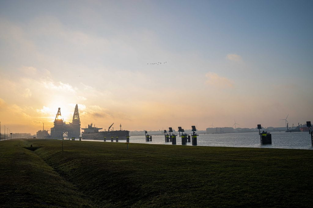 Foto van boot in Haven Rotterdam